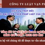 dịch vụ tư vấn thay đổi người đại diện theo pháp luật