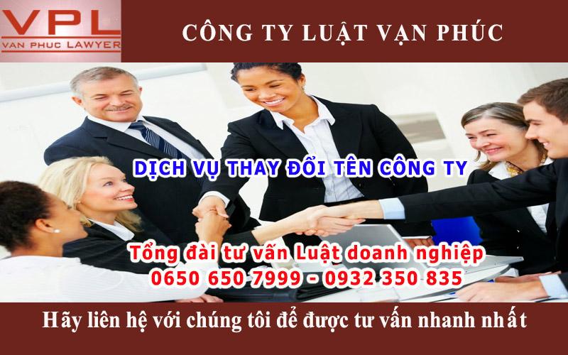 Dịch vụ thay đổi tên công ty tại Bình Dương, Đồng Nai