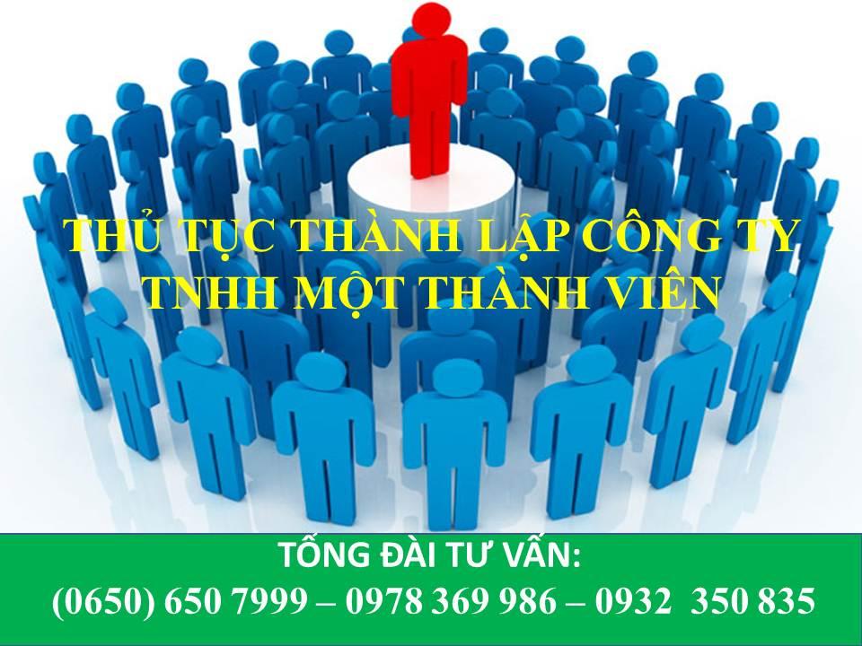 thu tuc thanh lap cong ty TNHH mot thanh vien tai Binh duong